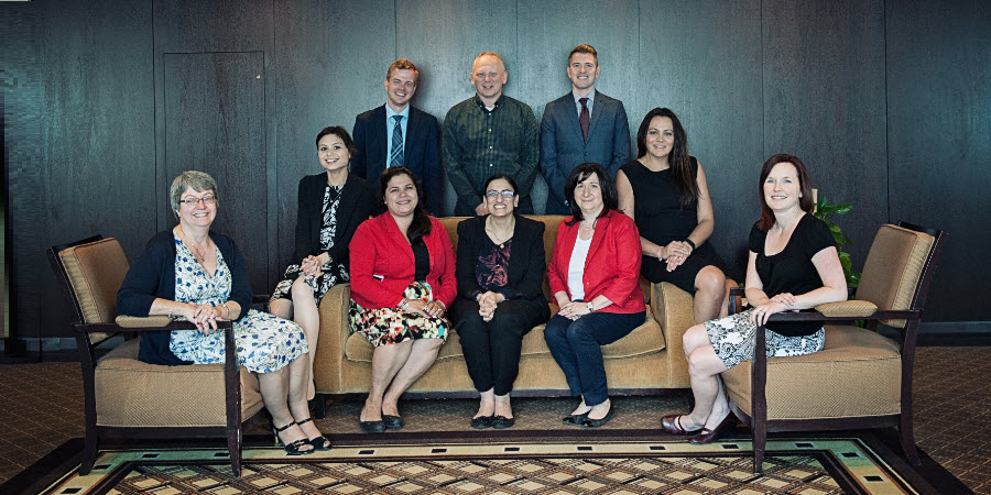 Back - left to right - Chris Poirier, Clint Savary, Ian Curry (Co-Chair).  Front - left to right - Lisa Matchim, Stella De Billy, Rana Mirdawi, Zadiha Iqbal, Rose Kottis, Margaret Tsetsakos (Co-Chair), Wanda Doiron (Absent: Anna Traer)