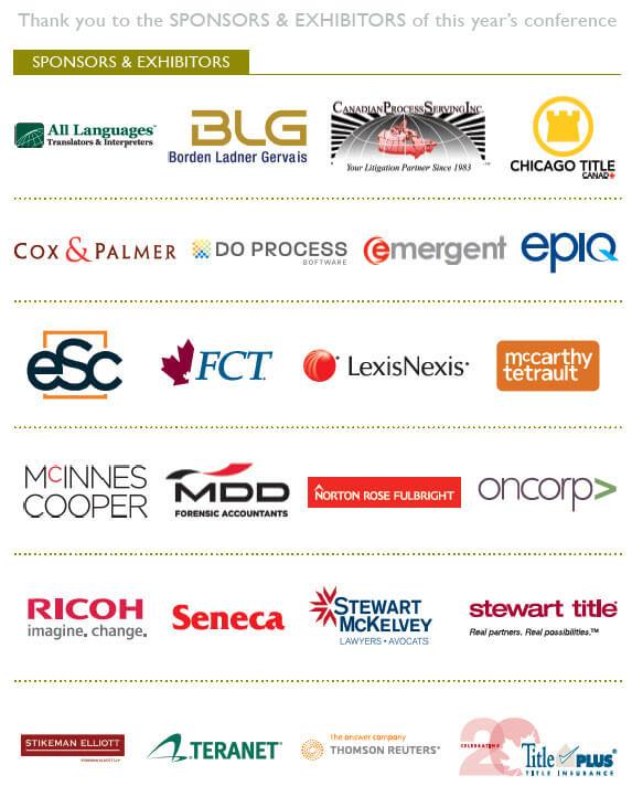 Sponsors and Exhibitors