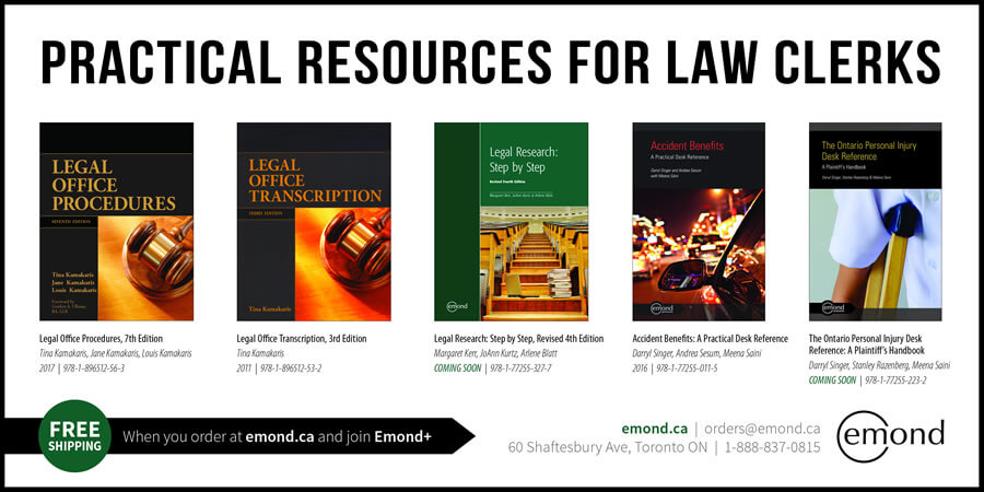 2017 Fall - Emond - Practical Resources for Law Clerks FullWidthHalf